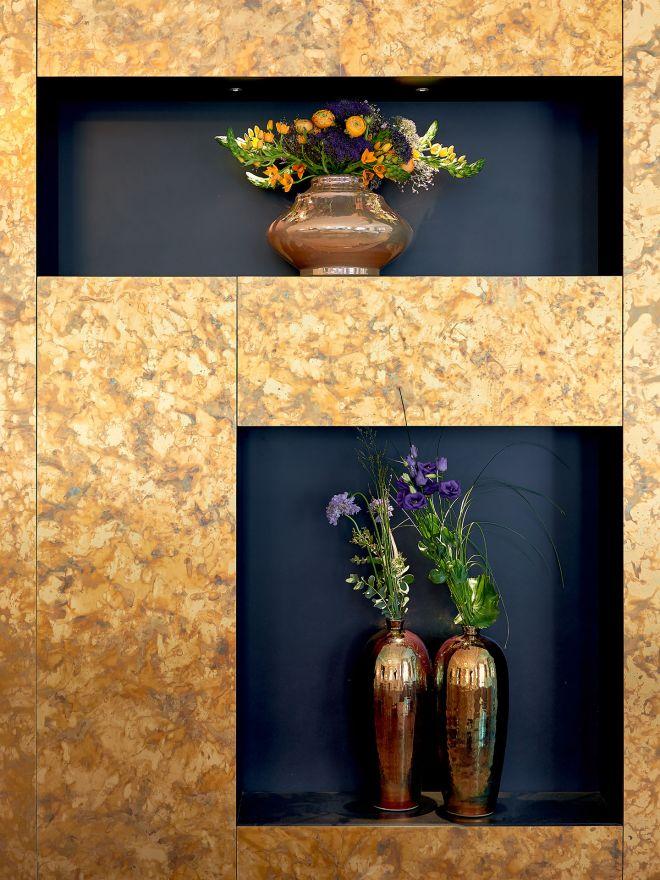 Goldene Wand Dekoration